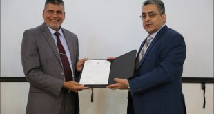 An Instructor at the Faculty of Medicine, University of Kufa Dr. Abdul Hussain Kadhem Reishan acquire the degree of Professorship in English Language and Linguistics